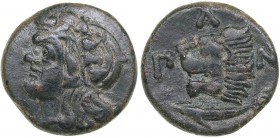 Bosporus Kingdom, Pantikapaion Æ tetrachalcon (Circa 303-283 BC)