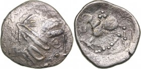 Celtic - Lower Danube AR Tetradrachm - (2nd century BC)