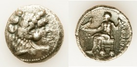 MACEDONIAN KINGDOM. Alexander III the Great (336-323 BC). AR tetradrachm (26mm, 16.68 gm, 5h). VF, porosity. Posthumous issue of Tyre, dated Regnal Ye...