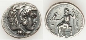 MACEDONIAN KINGDOM. Alexander III the Great (336-323 BC). AR tetradrachm (28mm, 16.95 gm, 12h). Choice VF. Early posthumous issue of Sidon, dated Civi...