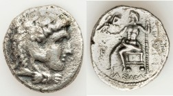 MACEDONIAN KINGDOM. Alexander III the Great (336-323 BC). AR tetradrachm (27mm, 16.48 gm, 12h). Choice Fine, porosity. Late lifetime to early posthumo...