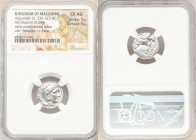 MACEDONIAN KINGDOM. Alexander III the Great (336-323 BC). AR drachm (17mm, 4.24 gm, 7h). NGC Choice AU 5/5 - 5/5. Posthumous issue of Mylasa, ca. 310-...