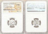 MACEDONIAN KINGDOM. Alexander III the Great (336-323 BC). AR drachm (18mm, 11h). NGC AU. Posthumous issue of 'Colophon', 310-301 BC. Head of Heracles ...
