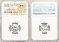 MACEDONIAN KINGDOM. Alexander III the Great (336-323 BC). AR drachm (18mm, 2h). NGC Choice XF. Early posthumous issues of Lampsacus, under Philip III ...