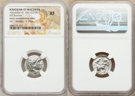 MACEDONIAN KINGDOM. Alexander III the Great (336-323 BC). AR drachm (18mm, 12h). NGC XF. Posthumous issue of 'Colophon', ca. 310-301 BC. Head of Herac...