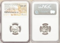 MACEDONIAN KINGDOM. Alexander III the Great (336-323 BC). AR drachm (18mm, 12h). NGC Choice VF. Posthumous issue of uncertain mint in western Asia Min...