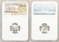 MACEDONIAN KINGDOM. Alexander III the Great (336-323 BC). AR drachm (16mm, 11h). NGC Choice VF. Posthumous issue of Colophon, ca. 319-310 BC. Head of ...