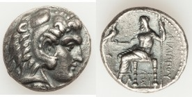 MACEDONIAN KINGDOM. Philip III Arrhidaeus (323-317 BC). AR tetradrachm (25mm, 17.04 gm, 12h). Choice XF. Lifetime issue of Sidon, dated Regnal Year 13...