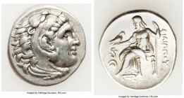 MACEDONIAN KINGDOM. Philip III Arrhidaeus (323-317 BC). AR drachm (18mm, 4.22 gm, 11h). Choice VF. Lampsacus, ca. 323-317 BC. Head of Heracles right, ...