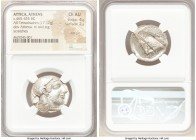 ATTICA. Athens. Ca. 465-455 BC. AR tetradrachm (23mm, 17.17 gm, 2h). NGC Choice AU 4/5 - 2/5, test cut. Head of Athena right, wearing crested Attic he...