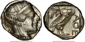 ATTICA. Athens. Ca. 440-404 BC. AR tetradrachm (24mm, 17.19 gm, 10h). NGC MS 5/5 - 4/5, brushed. Mid-mass coinage issue. Head of Athena right, wearing...