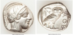 ATTICA. Athens. Ca. 440-404 BC. AR tetradrachm (25mm, 17.17 gm, 4h). Choice XF. Mid-mass coinage issue. Head of Athena right, wearing crested Attic he...