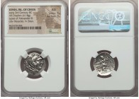 IONIA. Chios. Ca. early 3rd century BC. AR drachm (20mm, 4.18 gm, 11h). NGC AU 5/5 - 3/5. Posthumous issue in the name and types of Alexander III the ...
