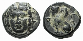Troas, Gergis, c. 350-300 BC. Æ (9mm, 1.35g, 6h). Head of Sibyl Herophile facing slightly l., wearing laurel wreath. R/ Sphinx seated l. Düsseldorf co...