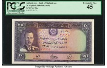 Afghanistan Bank of Afghanistan 20 Afghanis ND (1939) / SH1318 Pick 24a PCGS Currency Extremely Fine 45.   HID09801242017  © 2020 Heritage Auctions | ...