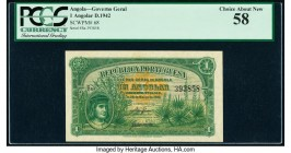 Angola Republica Portuguesa 1 Angolar 28.3.1942 Pick 68 PCGS Choice About New 58.   HID09801242017  © 2020 Heritage Auctions | All Rights Reserved