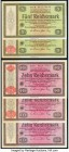 Austria and Germany Lot of 10 Examples Very Fine-Choice Uncirculated. Pinholes are seen on some of the German Reichsmark examples.   HID09801242017  ©...