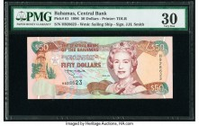 Bahamas Central Bank 50 Dollars 1996 Pick 61 PMG Very Fine 30.   HID09801242017  © 2020 Heritage Auctions | All Rights Reserved