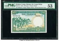 Belgian Congo Banque du Congo Belge 10 Francs 10.12.1941 Pick 14 PMG About Uncirculated 53.   HID09801242017  © 2020 Heritage Auctions | All Rights Re...