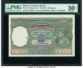 Burma Currency Board 100 Rupees ND (1947) Pick 33 Jhun5.16.1 PMG Very Fine 30 Net. Closed pinholes.  HID09801242017  © 2020 Heritage Auctions | All Ri...