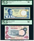 Congo Democratic Republic Banque Nationale du Congo 1000 Francs 15.12.1961 Pick 8a PCGS Choice About New 58; Nigeria Central Bank of Nigeria 10 Naira ...