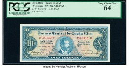 Costa Rica Banco Central de Costa Rica 10 Colones 9.10.1967 Pick 229 PCGS Very Choice New 64.   HID09801242017  © 2020 Heritage Auctions | All Rights ...
