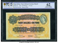 East Africa East African Currency Board 20 Shillings = 1 Pound 1.1.1955 Pick 35 PCGS Uncirculated 62.   HID09801242017  © 2020 Heritage Auctions | All...