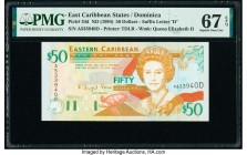 East Caribbean States Central Bank, Dominica 50 Dollars ND (1994) Pick 34d PMG Superb Gem Unc 67 EPQ.   HID09801242017  © 2020 Heritage Auctions | All...