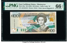 East Caribbean States Central Bank, Montserrat 100 Dollars ND (1998) Pick 36m PMG Gem Uncirculated 66 EPQ.   HID09801242017  © 2020 Heritage Auctions ...