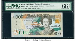 East Caribbean States Central Bank, Montserrat 100 Dollars ND (2000) Pick 41m PMG Gem Uncirculated 66 EPQ.   HID09801242017  © 2020 Heritage Auctions ...