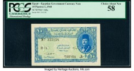 Egypt Egyptian Government 10 Piastres 1940 Pick 168a PCGS Choice About New 58.   HID09801242017  © 2020 Heritage Auctions | All Rights Reserved