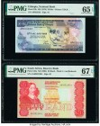Ethiopia National Bank 50 Birr ND (1976) Pick 33b PMG Gem Uncirculated 65 EPQ. South Africa Reserve Bank of South Africa 50 Rand ND (1984) Pick 122a P...