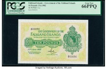 Falkland Islands Government of the Falkland Islands 10 Pounds 15.6.1982 Pick 11c PCGS Gem New 66PPQ.   HID09801242017  © 2020 Heritage Auctions | All ...