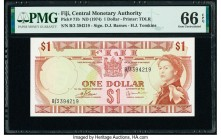 Fiji Central Monetary Authority 1 Dollar ND (1974) Pick 71b PMG Gem Uncirculated 66 EPQ.   HID09801242017  © 2020 Heritage Auctions | All Rights Reser...