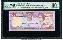 Fiji Reserve Bank of Fiji 10 Dollars ND (1989) Pick 92a PMG Gem Uncirculated 66 EPQ.   HID09801242017  © 2020 Heritage Auctions | All Rights Reserved