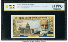 France Banque de France 500 Francs 5.12.1957 Pick 133b PCGS Banknote Gem UNC 65PPQ.   HID09801242017  © 2020 Heritage Auctions | All Rights Reserved