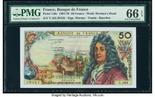 France Banque de France 50 Francs 2.4.1970 Pick 148c PMG Gem Uncirculated 66 EPQ.   HID09801242017  © 2020 Heritage Auctions | All Rights Reserved