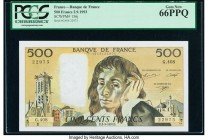 France Banque de France 500 Francs 2.9.1993 Pick 156j PCGS Gem New 66PPQ.   HID09801242017  © 2020 Heritage Auctions | All Rights Reserved