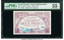 French Oceania Chambre de Commerce 2 Francs 29.12.1919 Pick 4 PMG About Uncirculated 55. Pinhole.  HID09801242017  © 2020 Heritage Auctions | All Righ...