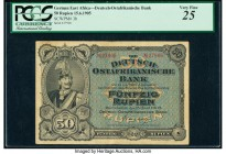 German East Africa Deutsch-Ostafrikanische Bank 50 Rupien 15.6.1905 Pick 3b PCGS Very Fine 25. Tiny splits at fold.   HID09801242017  © 2020 Heritage ...