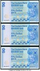 Hong Kong Chartered Bank 50 Dollars 1.1.1979 Pick 78 KNB53 Three Consecutive Examples Uncirculated.   HID09801242017  © 2020 Heritage Auctions | All R...
