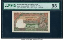 India Government of India 5 Rupees ND (1928-35) Pick 15b Jhun3.5.2 PMG About Uncirculated 55. Staple holes at issue.   HID09801242017  © 2020 Heritage...