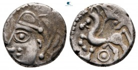 Celtic. Lemovice circa 200-0 BC. Quinarius AR