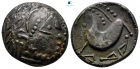"Eastern Europe. Mint in the northern Carpathian region circa 200-100 BC. ""Schnabelpferd"" type. Tetradrachm AR"