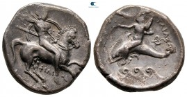 Calabria. Tarentum circa 290-281 BC. struck under the magistrates Phili... and Phi.... Nomos AR