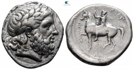 Kings of Macedon. Amphipolis. Philip II of Macedon 359-336 BC. struck ca. 356-355 BC. Tetradrachm AR