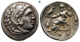 Kings of Macedon. Kolophon. Philip III Arrhidaeus 323-317 BC.  In the name and types of Alexander III. Struck under Menander or Kleitos, circa 322-319...