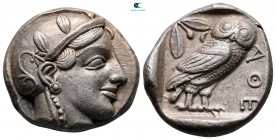 Attica. Athens circa 470-465 BC. Transitional issue. Tetradrachm AR