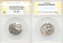 DANUBE REGION. Balkan Tribes. Imitating Alexander III the Great. Ca. 3rd-2nd centuries BC. AR tetradrachm (26mm, 12h). ANACS VF 30. Celtic issue imita...