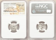 MACEDONIAN KINGDOM. Alexander III the Great (336-323 BC). AR drachm (17mm, 11h). NGC Choice VF. Late lifetime-early posthumous issue of 'Colophon', ca...